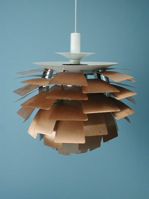 Ceiling lamp, Artichoke. Designed by Poul Henningsen for