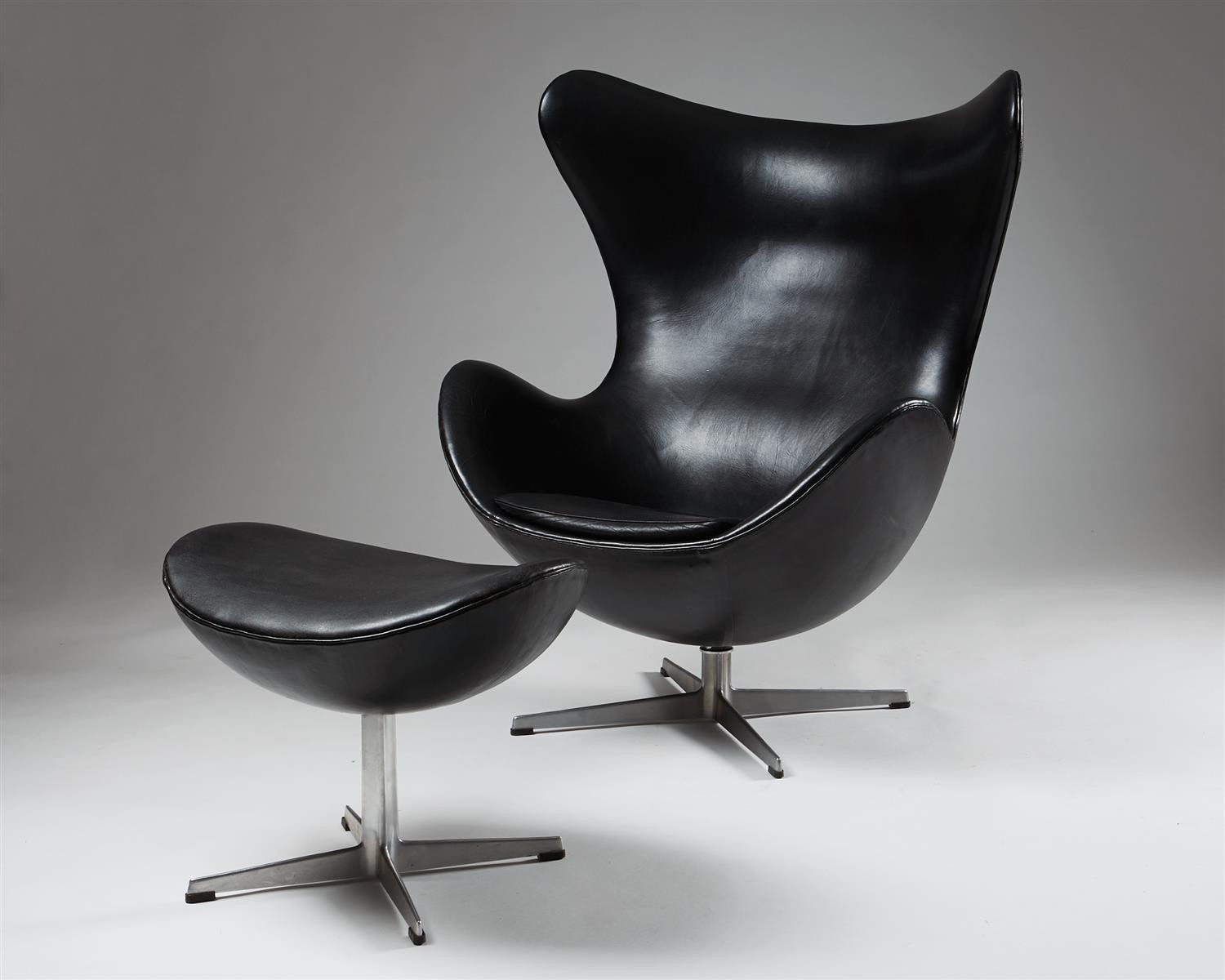 Magnificent Armchair And Foot Stool Egg Chair Designed By Arne Pabps2019 Chair Design Images Pabps2019Com