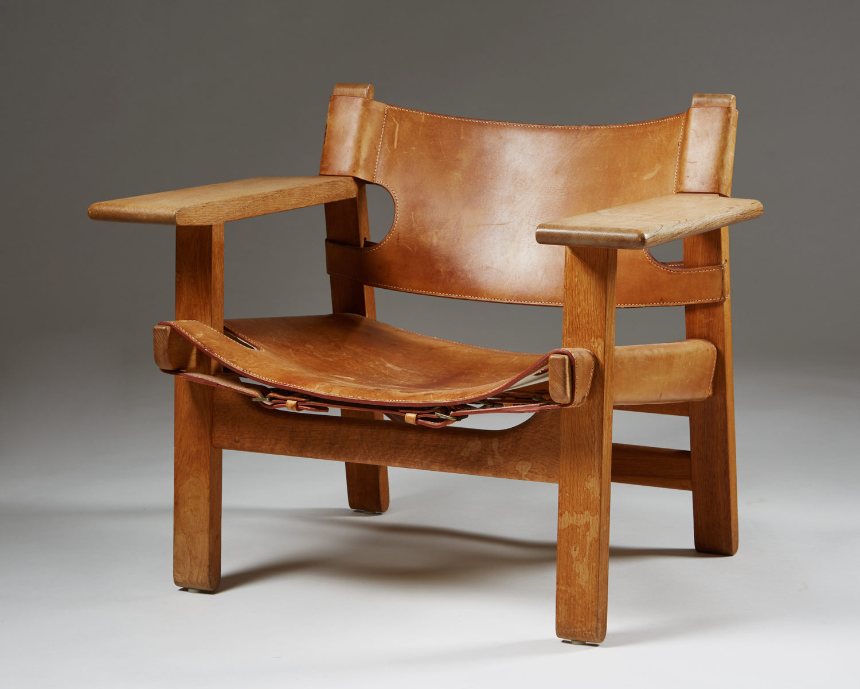 "Armchair ""Spanish Chair"" designed by Börge Mogensen for ..."