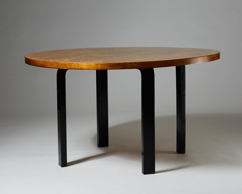 Dining Table Designed By Alvar Aalto For Finnmari Oy Modernity